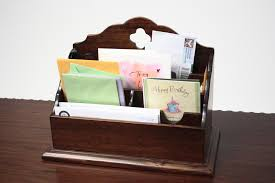 Desk Letter Organizer Mahogany Desk Organizers Letter Sorters Solid Wood