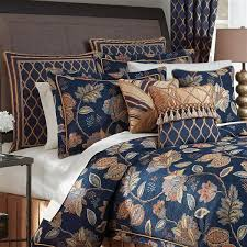 Duvet Covers Brown And Blue Comforter Sets Bedspreads Croscill