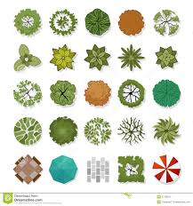 trees top view stock vector image 42780749