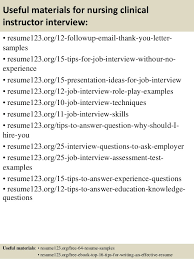 Clinical Resume Examples by Top 8 Nursing Clinical Instructor Resume Samples
