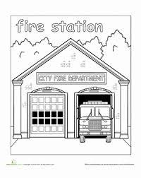 paint places paint the town fire station worksheet education com