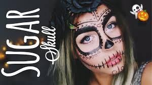 Sugar Skull Halloween Makeup Tutorial by Last Minute Halloween Make Up Sugar Skull Dagi Bee Youtube