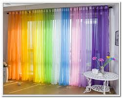 Outdoor Sheer Curtains For Patio Multi Color Sheer Curtains 4299