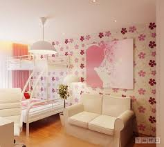 accent wall with removable interesting girls bedroom wallpaper