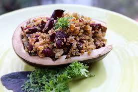 miso quinoa stuffed eggplant vegan gluten free sharon palmer