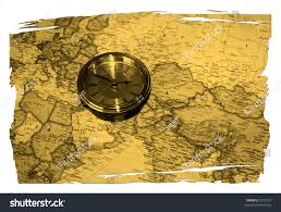 Map Of World Time Zones by Antique Clock On Torn Map Piece Stock Photo 2275187 Shutterstock