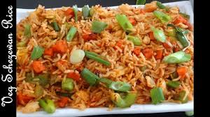 Chinese Main Dish Recipe - quick five minutes veg schezewan rice recipe स ज व न