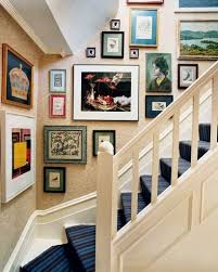 decorate stairway wall amazing staircase decorating ideas wall