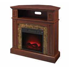 essential home finley faux marble electric fireplace