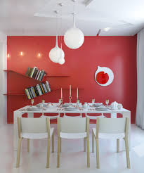 dining room red and white dining room decoration with rectangular