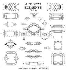 Art Deco Design Elements Art Deco Style Linear Geometric Labels Stock Vector 296912423