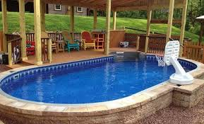 above ground lap pool decofurnish photo swimming pool backyard designs images modern swimming