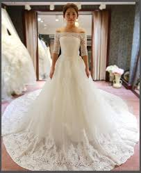 Discount Vintage Wedding Dresses U0026 Bridal Gowns Queen Of Victoria 2017 White Vintage Empire Waist Lace A Line Wedding Dresses Long