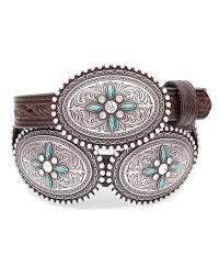 women u0027s oval concho belt brown turquoise