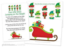 No More Monkeys Jumping On The Bed Song Five Little Elves Christmas Song Free Printable Puppets Picklebums