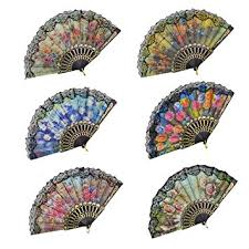 lace fans rbenxia floral folding fan flowers