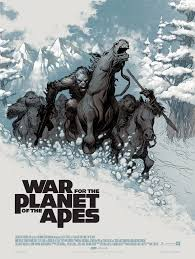 the blot says war for the planet of the apes screen print by