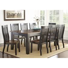 steve silver lw500t lawton dining table in black brown homeclick com