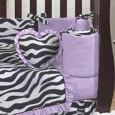 Zebra Print Baby Bedding Crib Sets Purple And Funky Zebra Animal Print Baby Bedding 9pc Crib Set