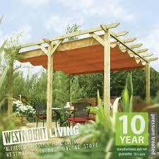 Waterproof Pergola Covers by New Garden Patio Wooden Retractable Pergola Waterproof Sun Canopy