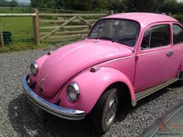 used pink volkswagen beetle 1972 volkswagon vw beetle original bubblegum pink tax exempt