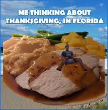 me thinking about thanksgiving in florida meme waterfront
