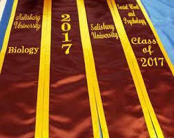 custom graduation stoles custom graduation stole etsy