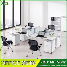 office desk for 4 people long table workstations modern office