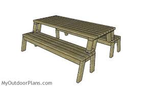 picnic table bench plans folding picnic table plans myoutdoorplans free woodworking plans