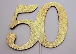 amazon com 50th birthday cake topper 50 cake topper 50th