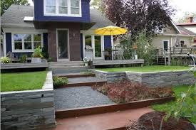 Backyard Terrace Ideas Pictures Terraced Backyard Garden Best Image Libraries