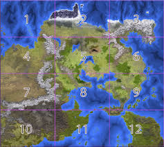 Pathfinder World Map by Fantasy Maps By Anna B Meyer