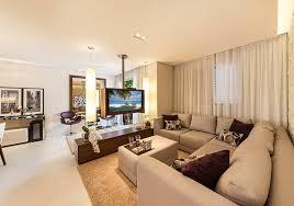 home theater modern design living ampliado duas salas divididas pela tv que gira para todos