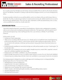 Executive Recruiters Job Description Working At The Whitaker Companies Glassdoor
