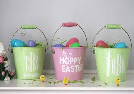 personalized easter buckets personalized easter egg pails in just 10 minutes the celebration