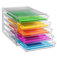 Paper Organizer For Desk J Burrows Desktop File Storage Organiser 5 Drawer Clear Drawers