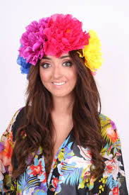 flower hairband dollywood rox collection go big or go home multi colour flower