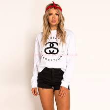 stussy international sweatshirt women u0027s 100 genuine hoodies