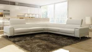 White Italian Leather Sectional Sofa Casa Cobana Modern White Italian Leather Sectional Sofa