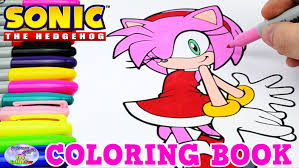 sonic the hedgehog coloring book amy rose episode speed coloring