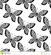 butterfly seamless pattern stock vector illustration of blue