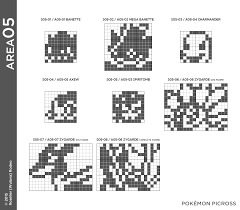 pokemon picross area 05 puzzle solution for 3ds by wulava gamefaqs