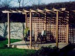 pergola with trellis product uniflex timber