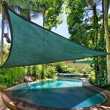 16 5 u0027 triangle sun shade sail yard canopy patio garden uv blocking