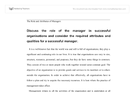 Resume For A Marketing Job by Discuss The Role Of The Manager In Successful Organisations And