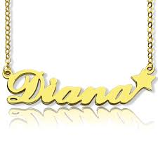 carrie name necklace gold carrie style name necklace with