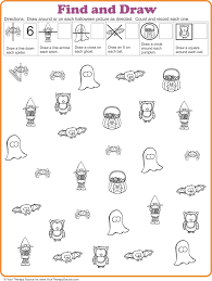 find and draw visual motor activity for halloween your therapy