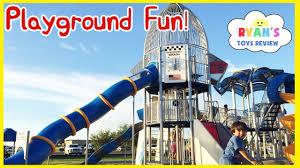 huge outdoor playground for children giant slides for kids family