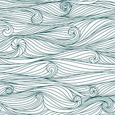 abstract blue hand drawn pattern waves background seamless