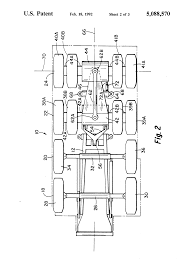 patent us5088570 steerable rear dual axle system for large